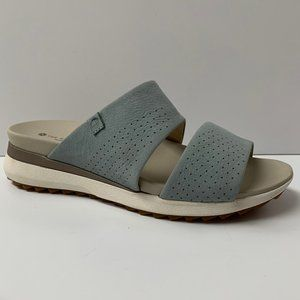 Grey Green Hush Puppies 2 Band Sandals Size 7